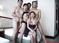 Asian gangbang