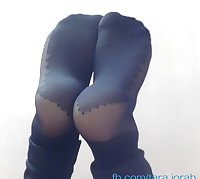 irani hijab turban nylon socks footjobs