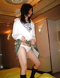 Cute Japanese girlfriend costume play, dirty sex photos