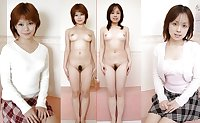 Asian dressed, undressed