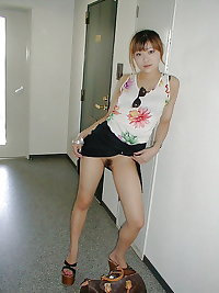 Japanese amateur dressed in nurse's in the hotel room