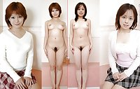 Asian Girls Dressed and Undressed
