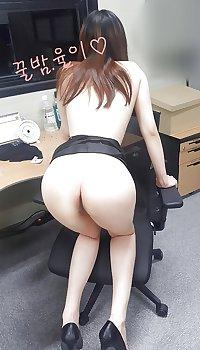 Korean secretary fucked at work